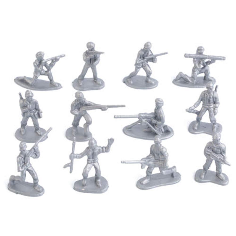PoeHXtyy 100 stücke Military Kunststoff Spielzeug Soldaten Armee Männer Figuren 12 Posen Geschenk