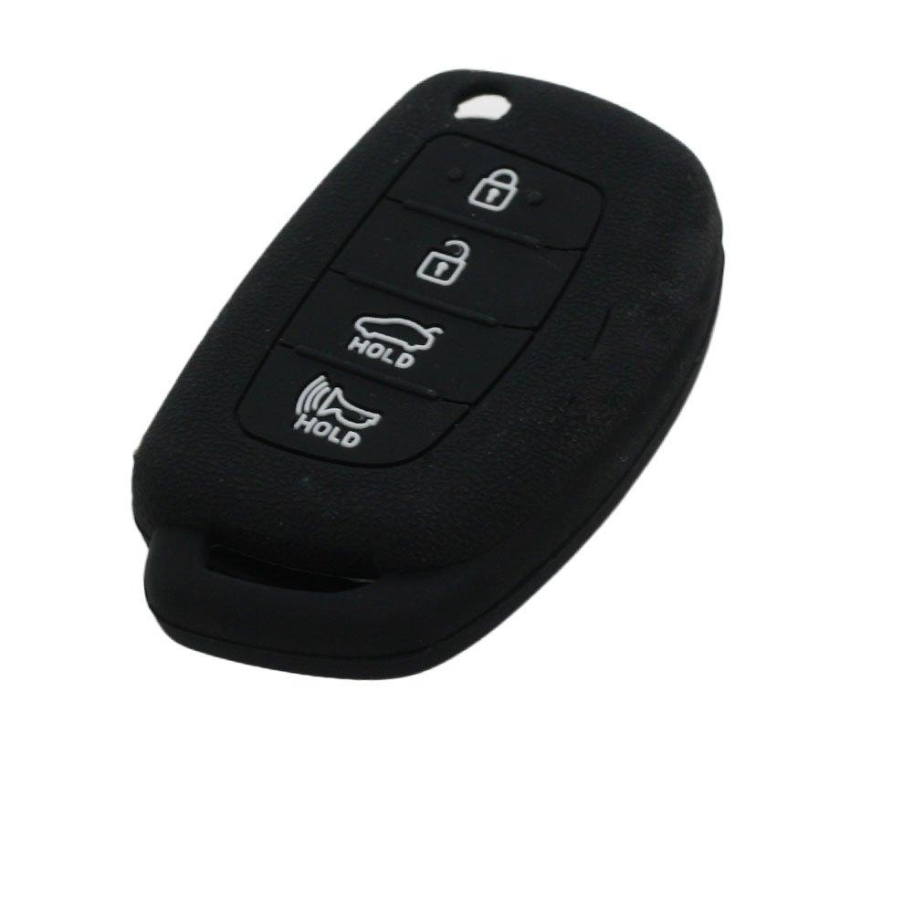 fassport Granulés Motif Housse en silicone pour Hyundai ix45Santa Fe 4à rabat Bouton Télécommande Clé cv4107