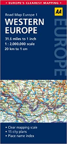 road map western europe aa road map europe 1 amazoncouk aa publishing 9780749575298 books