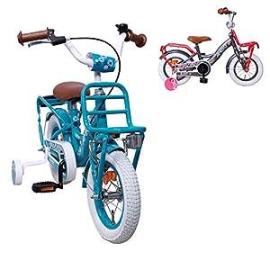 Amigo Bloom - Vélo Enfant pour Les Filles - 12 Pouces - avec Frein à Main, Frein à rétropédalage, Porte-Bagages Avant et… 3