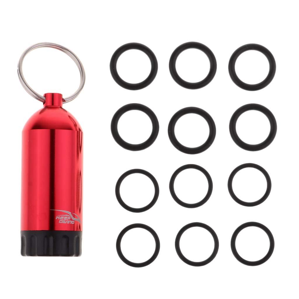 CUTICATE Kit de Mini Botella de Buceo de Aluminio con 12 Anillos en O y Llavero de Buceo