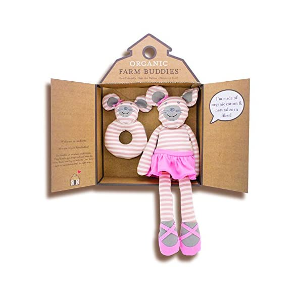 Apple Park Apple Park Farm Buddies Ballerina Mouse Gift Set