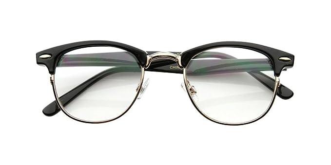 Amazon.com: Malcolm X Horn Rimmed Glasses Frames Black Silver ...