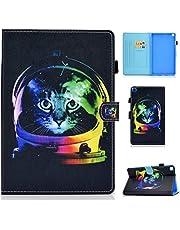 MUTOUREN Funda Compatible con Samsung Galaxy Tab A 8 Inch 2019 T290/T295, Ultra Slim Protectora Cover con Soporte para lápiz/Anti- Arañazos/Duradero-Gato Espacial