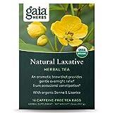 Gaia Herbs, Natural Laxative Herbal Tea, 16 Tea Bags (Pack of 3)