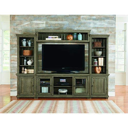 - Complete Entertainment Unit in Distressed Weathered Gray