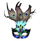 Features:  Women masquerade mask is made of durable plastic materials and glaring feather, characteristic and exotic.This beautiful purple mask is decorated with beads, glitter as well as gorgeous peacock feature, noble and elegant.It's perf...