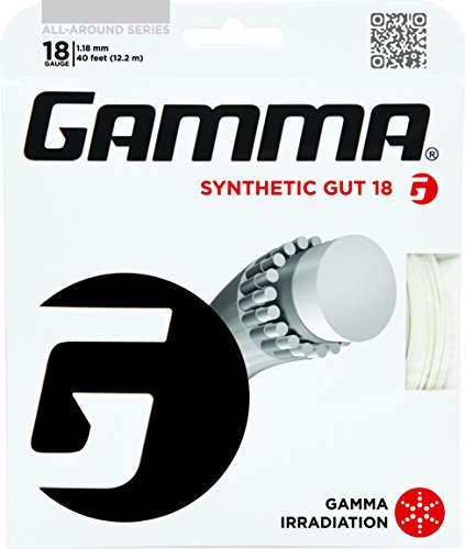 Gamma Synthetic Gut 18G Tennis String, (18g Strings)