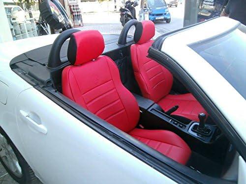 Topcar Athens 1 1 Autositzbezüge Kunstleder Mit Synthetik Rückseite Oberfläche Auto Sitzbezüge Rot Schwarz Auto