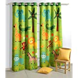 Printed Kids Window Curtain Digital Prints Blackout 48x60 Inch Set of 2 Curtain Panel,KCURW-162