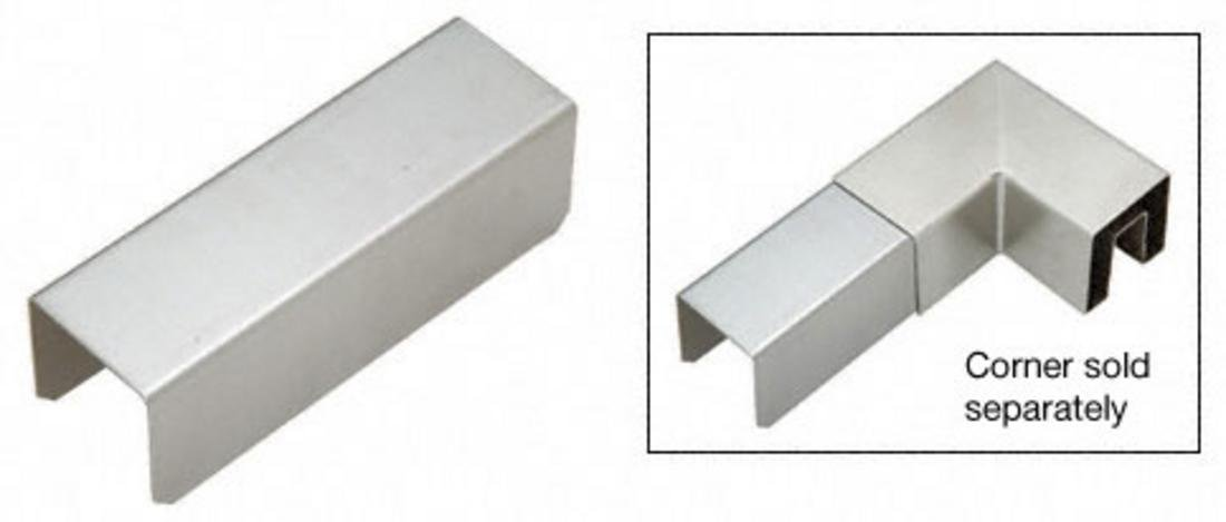C.R. LAURENCE GRS25CSS CRL 2-1/2'' Stainless Steel Square Connector Sleeve for Square Cap Railing, Square Cap Rail Corner, and Hand Railing