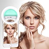 Leadpo 30 LED Selfie Ring Light for iPhone Samsung Galaxy Sony and Other Smart Phones 4 Brightness Levels Selfie light Take Great Selfies in Low Light Conditions with Perfect Illuminate (Mint Green)