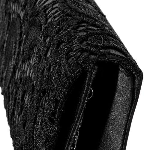 Pochette Style Main Mini Noir en Rouge Portefeuille de Sac Dentelle à Soirée Mariage awSpq1