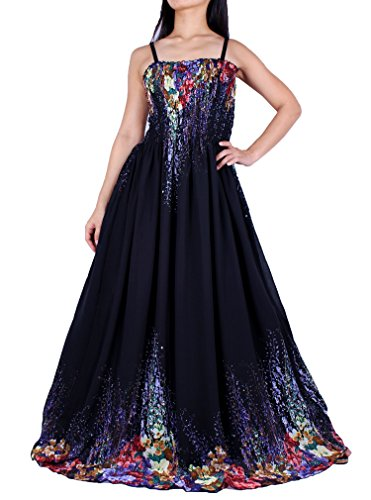 MayriDress Maxi Dress Plus Size Clothing Black Ball Gala Party Sundress Designer (4X, Black/ Colorful Floral)