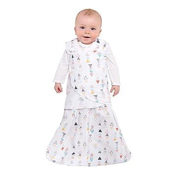 8e1ae8acb Amazon.com: Halo - SleepSack 3-way Adjustable Baby Swaddle, 100% Cotton -  Neutral Triangles, Newborn: Baby