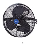 iLIVING ILG8E18-15 Wall Mount Outdoor Waterproof Fan, 18'', Black