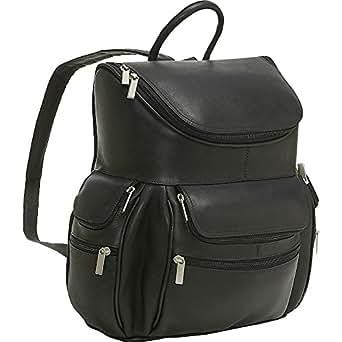 Le Donne Leather Computer Back Pack (Black)