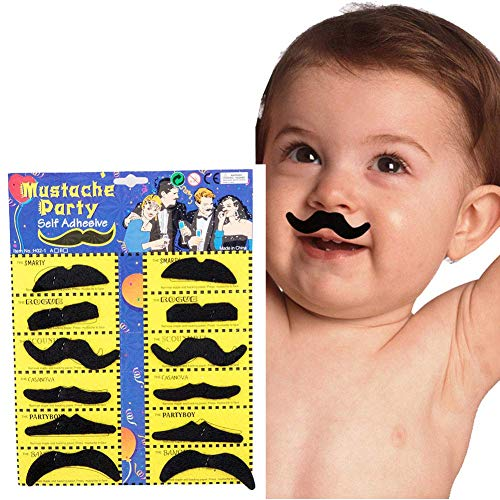 XiaoPang 12pcs/Set Party Halloween Christmas Fake Mustache Funny Fake Beard Whisker for Your Birthday - Novelty and Toy, for Halloween, Parties, Kids, Gift, Favors, Fun, Birthday, Fiesta, Games, Home]()