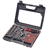 Allied Tools 66525 Ratcheting Screwdriver Set with Window Storage Case, 61-Piece