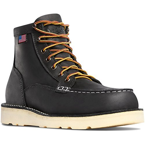 Danner Bull Run Moc Toe 6'' Black Work Boots Oil & Slip Resistant| Working Leather Boots Oiled Leather Upper | Made In USA Modern Battlefield Combat Boot (15 D)
