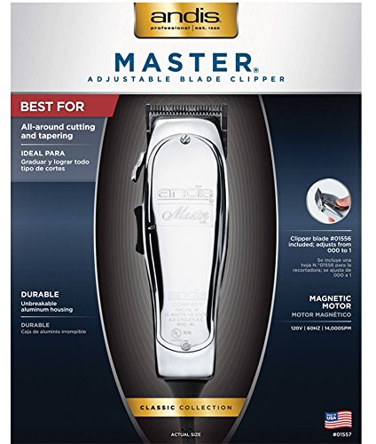 Andis Master Hair Adjustable Blade Clipper, with a Andis Master Dual Magnet 5-Comb Set with a BeauWis Blade Brush by Andis (Image #6)