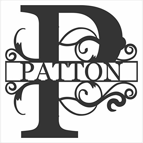 Name Letters Decor (AJD Designs Personalized Last Name P Door Hanger - 20