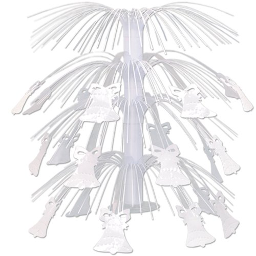 Bell Cascade Centerpiece (Bell Cascade Centerpiece (white) Party Accessory  (1 count) (1/Pkg))