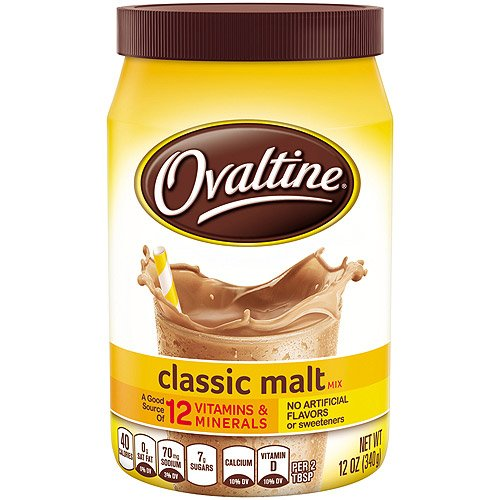 Nestle, Ovaltine, Classic Malt Beverage, 12-Ounce Canisters (Pack of 3)