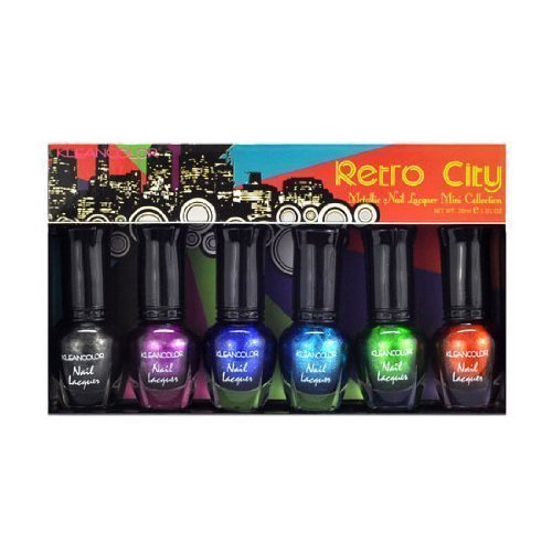 Klean Color Retro City Metallic Nail Lacquer .17 oz Mini Collection KleanColor