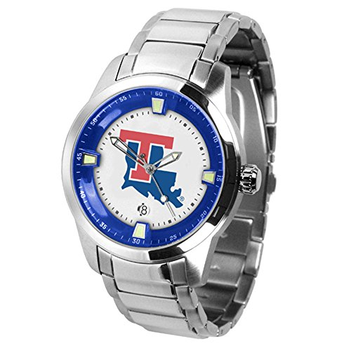 Louisiana Watch Tech Sport Bulldogs (Linkswalker Mens Louisiana Tech Bulldogs Titan Steel Watch)