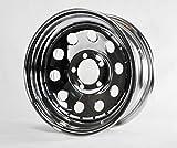 eCustomRim Trailer Rim Wheel 14'' 14X6 5 Lug Hole Bolt Wheel Mod Chrome Modular W/Rivets