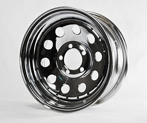 Trailer Rim Wheel 14 in. 14X6 5 Lug Hole Bolt Wheel Mod Chrome Modular