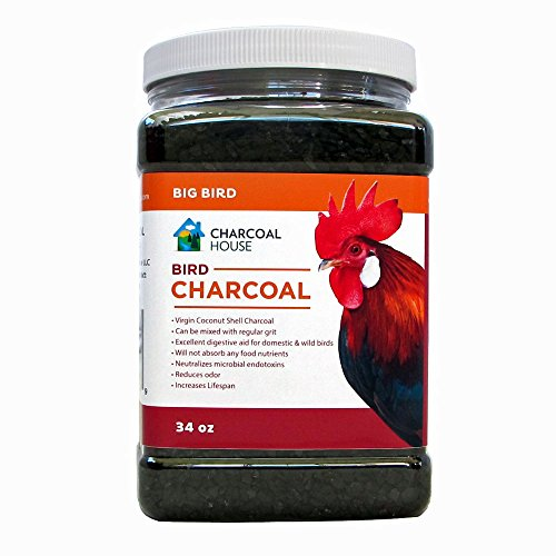 (2qts Granular Bird Charcoal for Chickens & Large birds, Digestion, feed supplement, Scratch For Poultry, pigeons, parrots, turkeys, and others,)