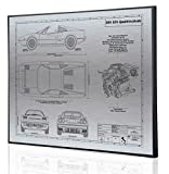 Ferrari 308 GTS QV Blueprint Artwork-Laser Marked & Personalized-The Perfect Ferrari Gifts
