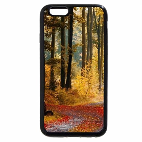 iPhone 6S / iPhone 6 Case (Black) AUTUMN FOREST TRAIL