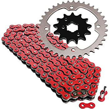 Caltric Black Drive Chain And Sprockets Kit for Yamaha Raptor 350 Yfm350R 2004-2013
