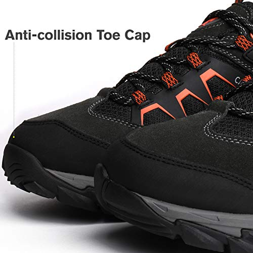 CAMEL CROWN Men's Hiking Shoes, Lightweight Non Slip Sneakers Breathable Low Top Camping Shoes for Hiking, Trekking, Traveling, Walking, Outdoors