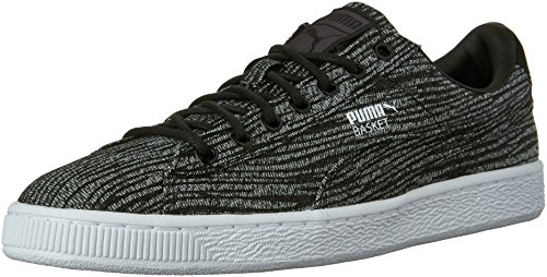PUMA Men's Basket Classic Tiger MESH Fashion Sneaker, Asphalt Black, 6 M US
