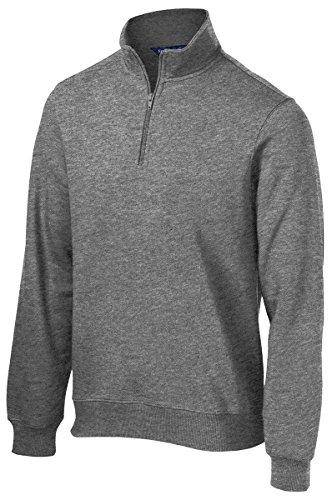 Sport-Tek Men's 1/4 Zip Sweatshirt M Vintage Heather (Vintage Pullover)