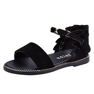 QinMM Bébé Filles Princesse Sandales Chaussures, Enfants Mode Sneaker Lace Nœud Papillon Métal Simple D'été Casual Chaussures Plage Chic Plat Soiree