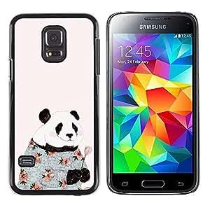 Paccase / SLIM PC / Aliminium Casa Carcasa Funda Case Cover para - Absurd Pink Fashion Flowers Happy - Samsung Galaxy S5 Mini, SM-G800, NOT S5 REGULAR!