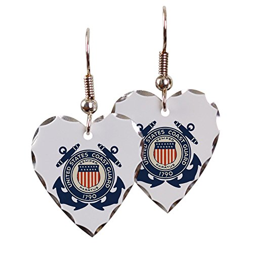 - Earring Heart Charm United States US Coast Guard Seal