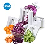 ICOCO Spiral Slicer Cutter With Tri-Blade for Vegetable Slicer, Onion Chopper, Fruit and Cheese Cutter Container Vegetable in Home and Kitchen