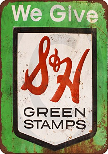 S&H Green Stamps vintage reproduction metal sign 8 for sale  Delivered anywhere in USA