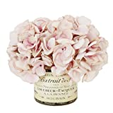 Creative Displays Ruffled Hydrangeas in French Label Vase