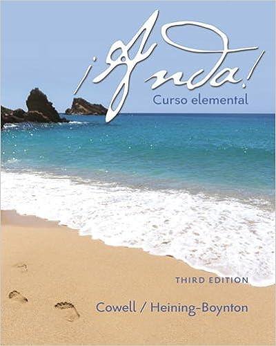 ¡Anda! Curso Elemental (3rd Edition) Glynis L. Cowell