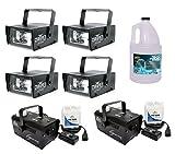 (4) CHAUVET CH-730 Mini Strobe Lights + (2) H-700 Fog Machines + FJU Fog Juice
