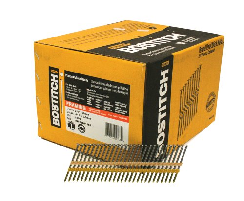 (BOSTITCH RH-S8D113EP Round Head 2-3/8-Inch x .113-Inch by 21 Degree Plastic Collated Framing Nail (5,000 per Box))