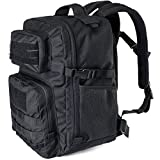 WIDEWAY Military Tactical Backpack 50L Survival Gear Backpacking Large Hydration Molle Bug Out Bag 3 Day Assault Pack Rucksacks Daypack for Outdoor Travel Hunting Camping Hiking Shooting, Black