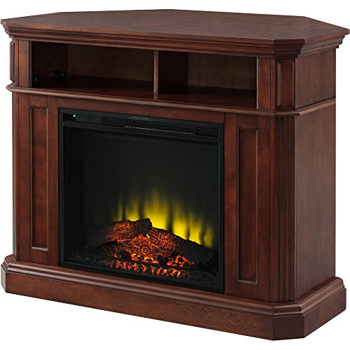 "Prokonian 42"" Cherry Media Fireplace for TVs up to 40"""